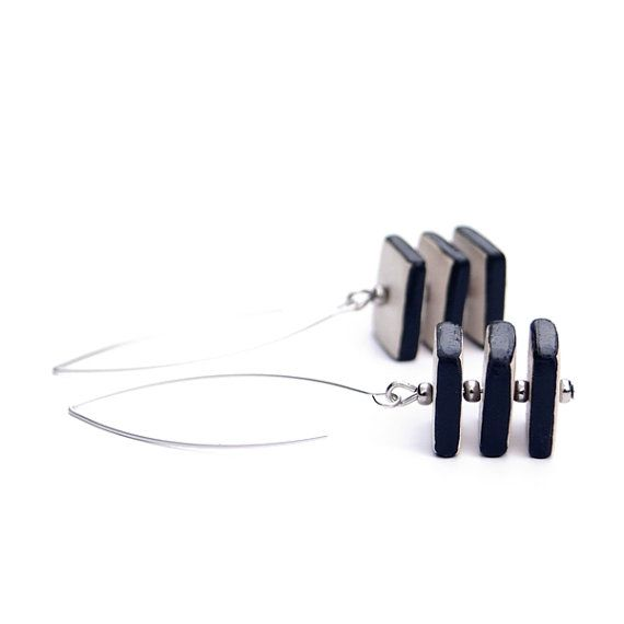 Hey, I found this really awesome Etsy listing at https://www.etsy.com/listing/234794381/geometric-jewelry-ceramic-earrings-with