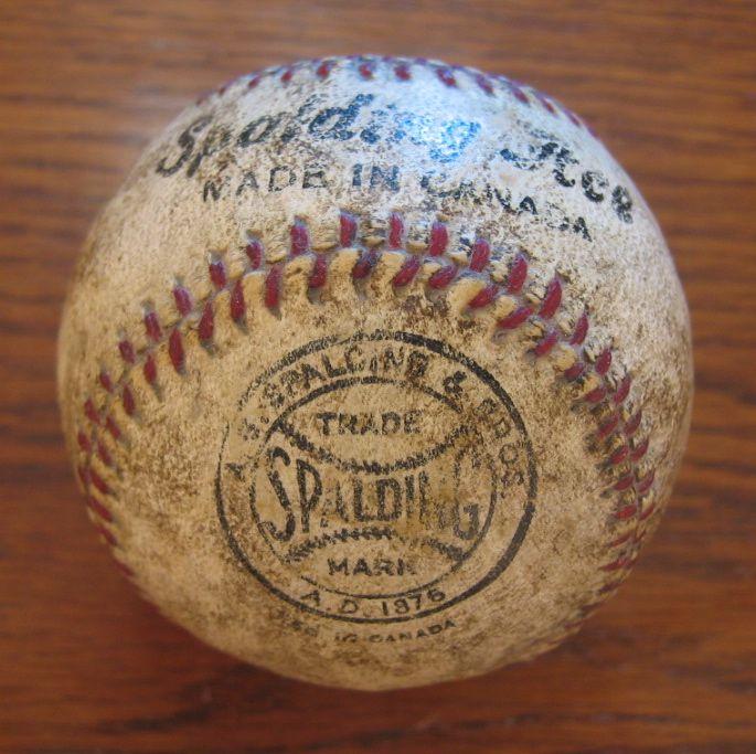 Pelota de beisbol A.G. Spalding & Bros. Modelo Spalding Ace (Canada) 1931. (Colección particular de Pablo Gines)