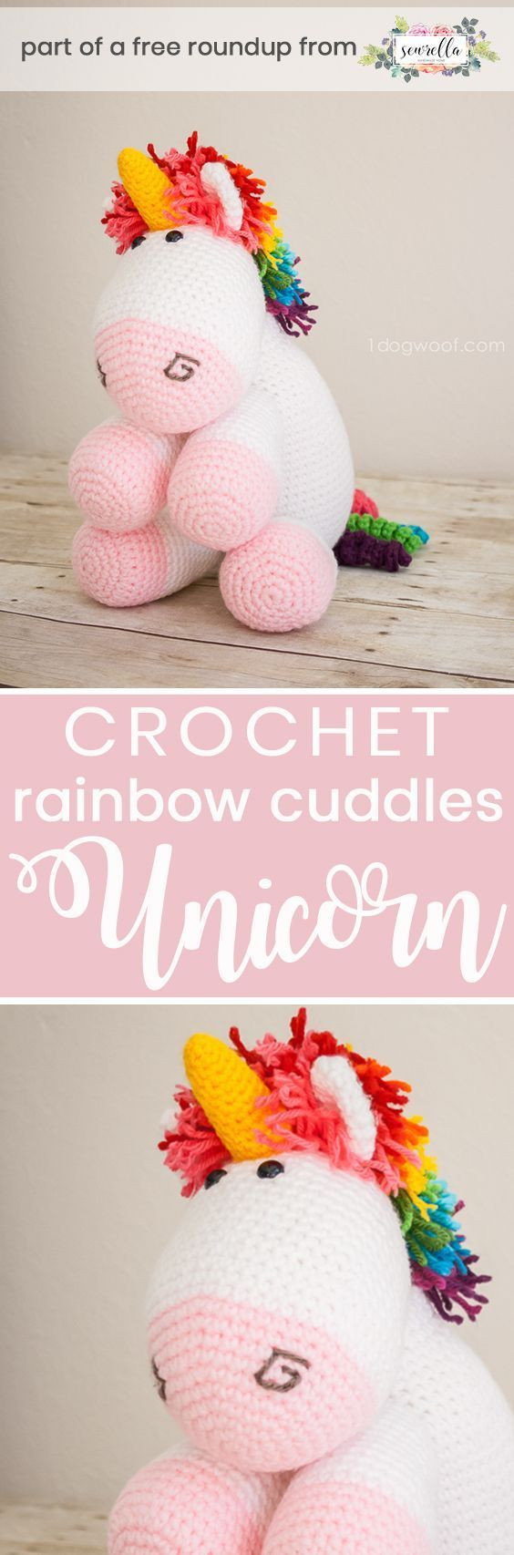 Repeat Crochet Me: free crochet pattern for this rainbow cuddles unic...