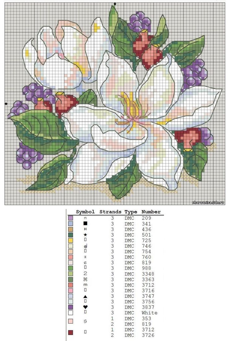 Flower cross stitch                                                                                                                                                      More
