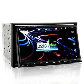 Free shipping world wide 7 Inch Android-2.3 Double Din Car DVD Player with 3G Internet, WiFi, GPS Navigation and DVB-T