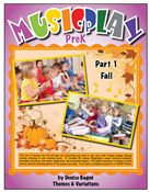 This set of lessons for fall will give you everything you need to get your Pre-K classes singing, playing, moving, listening to and creating music.  It includes 40+ poems, finger plays, songs, listening examples, movement activities, instrument exploration, and storybook lessons.  The digital resources to project (purchased separately) include movies and kids/teaching demos of the poems and songs  if you have a computer/projector or SMART Board.
