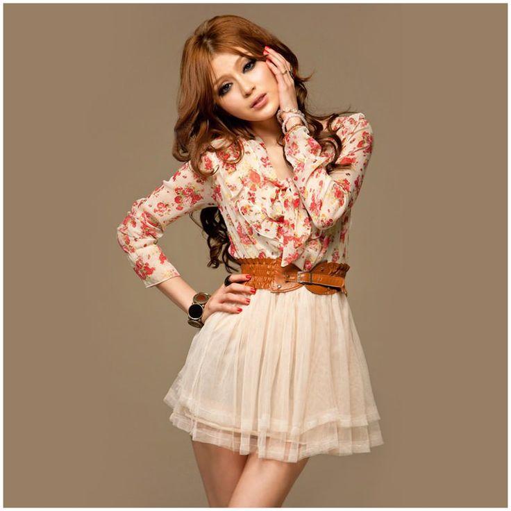 #japon #style #bayan #elbise şifon gömlekli