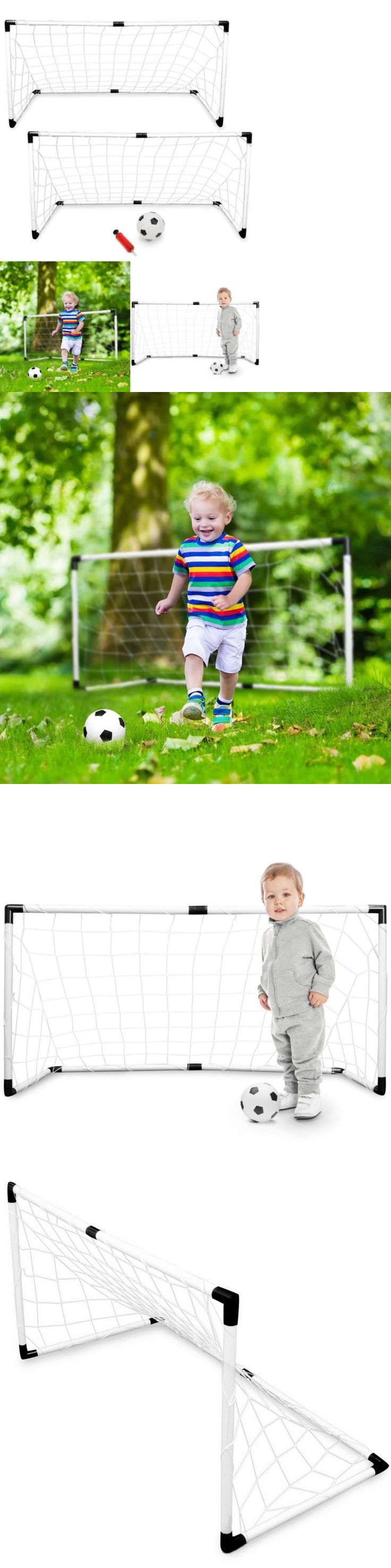 Inspirational Goals and Nets Set Of Soccer Goal For Backyard Toddlers Kids Training Play