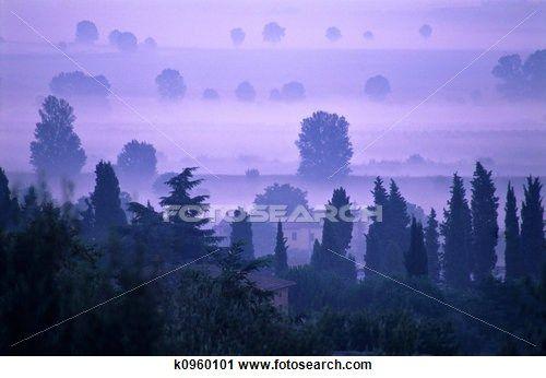 Dawn in Tuscany