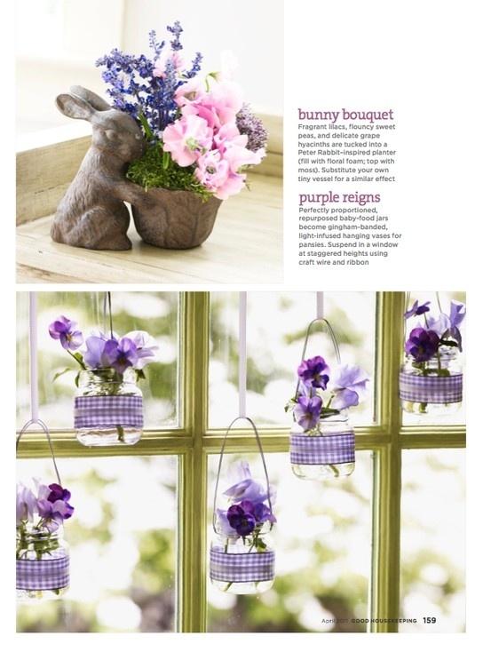 Dangling Flower Vases in Jars
