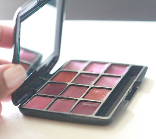 Great practical idea--make a lipstick palette from your old partially used tubes of lipstick-talk about recycling!