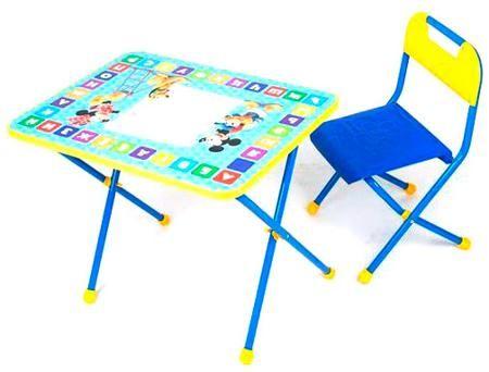 Ника Набор мебели ника 'disney 1'(стол+пенал+стул пластмассовый) д1 (микки маус и друзья)  — 1406р.  Рекомендуемый возраст: 1год-5лет Для детей от 1,5 лет- складной стол (h 500 мм)- складной стул с пластмассовым сиденьем- группа роста 1150-1300 мм- пенал