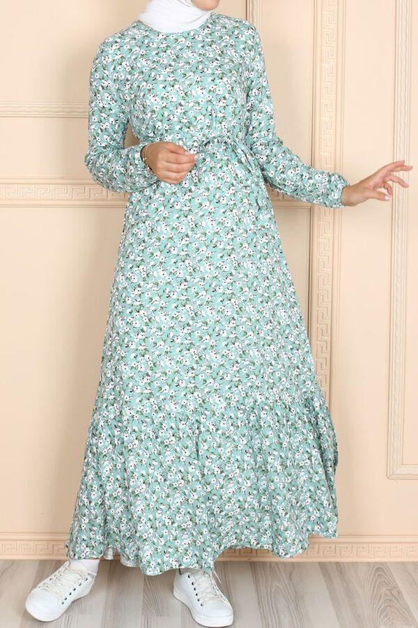 فستان أخضر فاتح فزكون Dresses With Sleeves Dresses Maxi Dress
