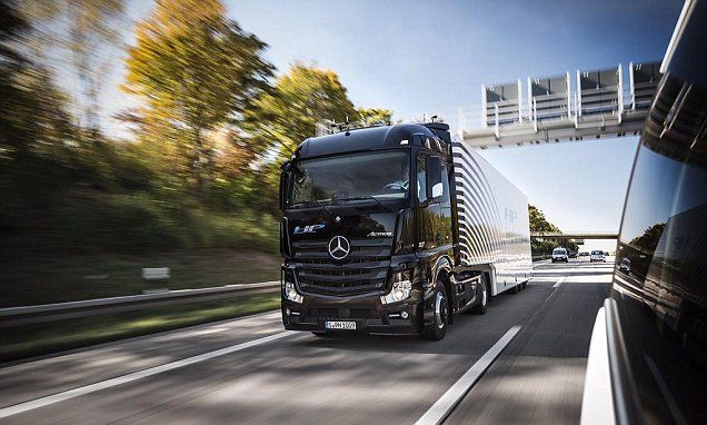 Driverless truck is tested on the German autobahn for the first time
