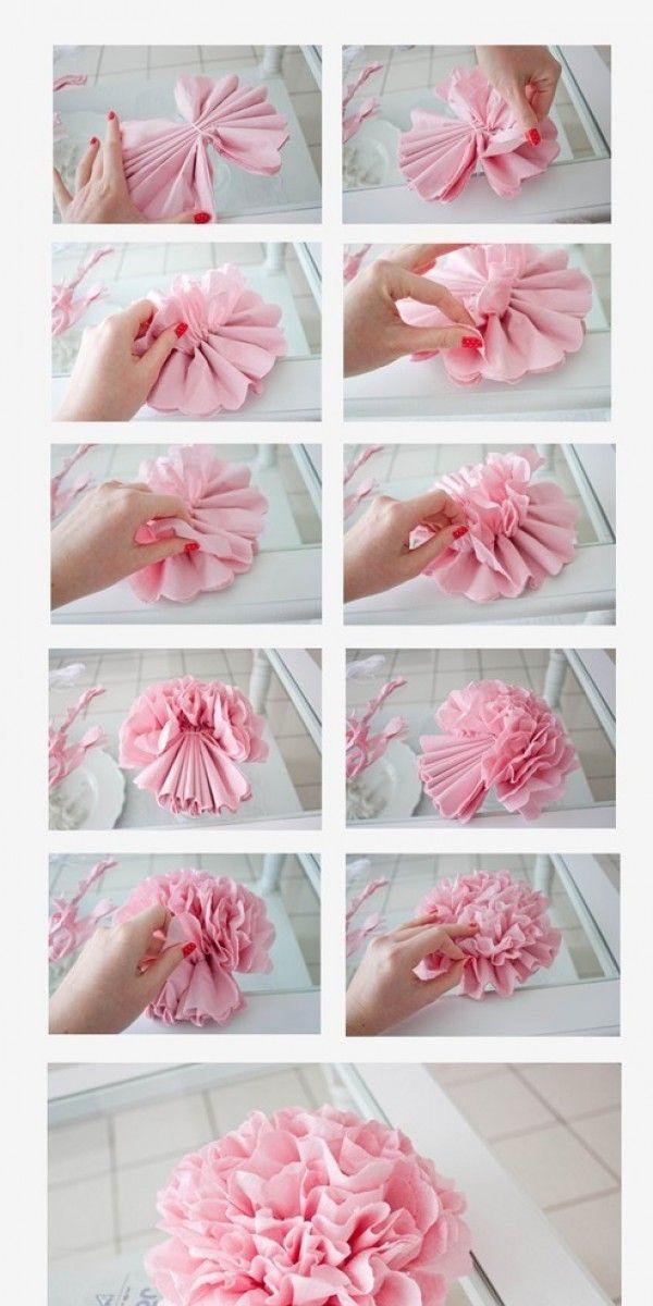 17 beste idee n over bloemen van papieren zakdoekjes op pinterest papieren bloemen for Home decoration meester