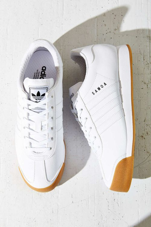 Adidas Samoa - Tags: sneakers, low-tops, white, leather, gum sole