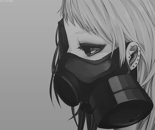 58 best anime gas mask images on pinterest anime boys - Anime girl with gas mask ...