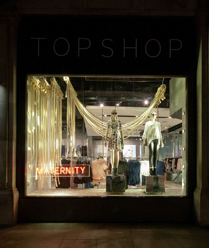 Top Shop Windows Fall 2015 London UK