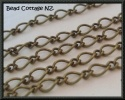 8mm Link Antique Bronze Mother Son Link Chain