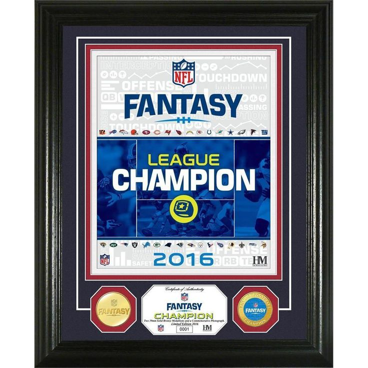 NFL Fantasy Football Gold Champion Coin Photo Mint