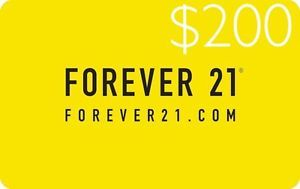 Forever 21 E-Gift Card $200 (Same Day Delivery) Redeemed Online Only