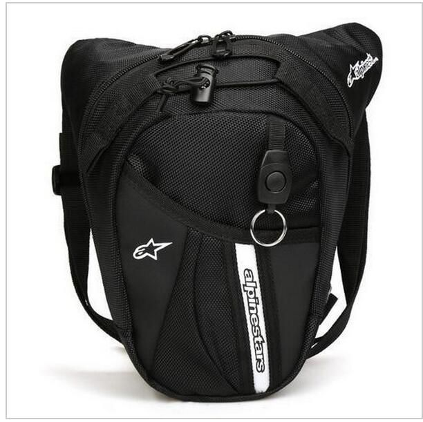 free shipping 2017 new waist Bag Waterproof Nylon Travel Bag Men Black Drop Leg bag Motorcycle Fanny Pack Waist Belt Bag