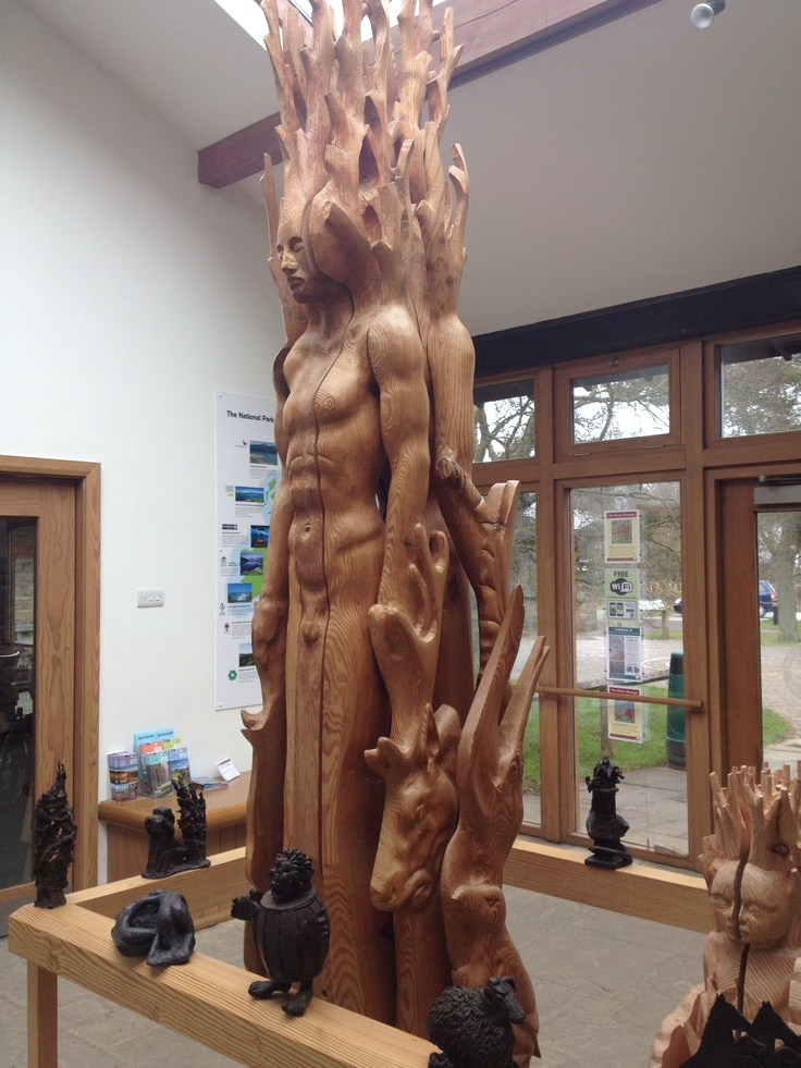 Carvings dedicated to the moors at Sutton Bank Visitors' Centre