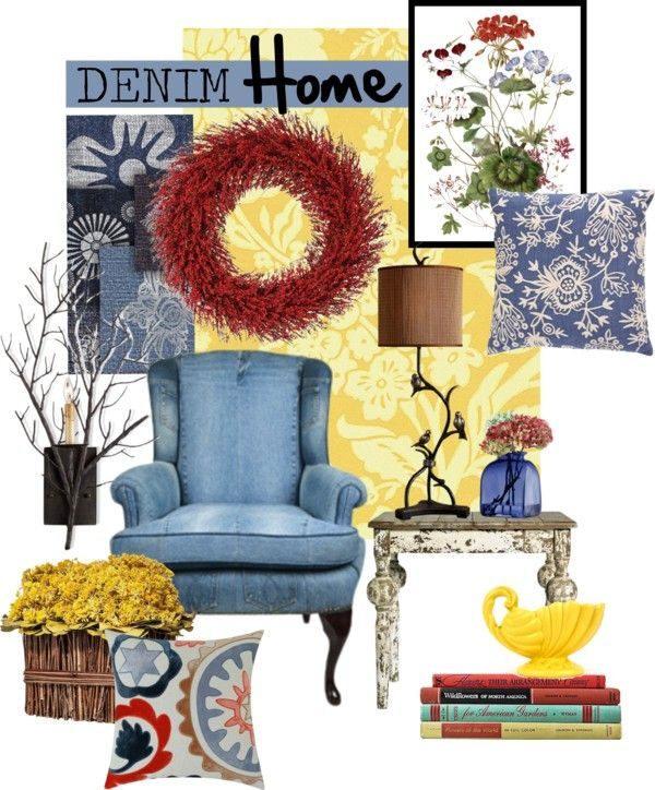 Denim Decor Yee Haa Or Yee Ouch: 85 Best Denim Home Images On Pinterest