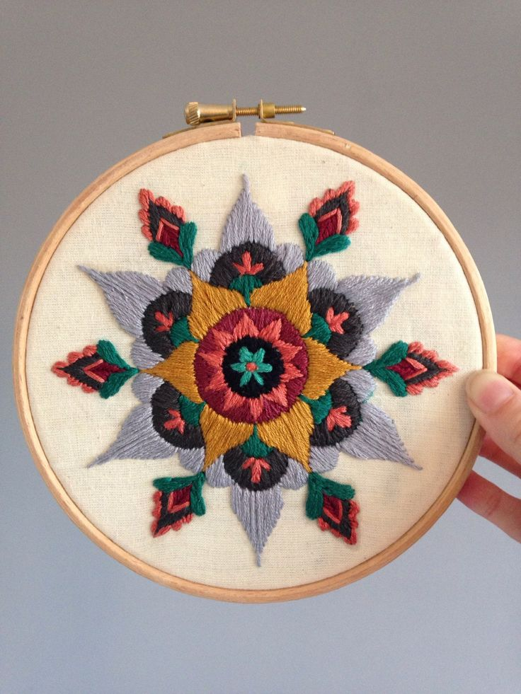 A beautifully ornate original mandala design, carefully hand embroidered onto crisp calico fabric, on a 6 embroidery hoop. A really stunning feature, hung on any wall! :)