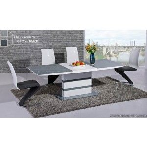 Arctic Extending Dining Table in Grey
