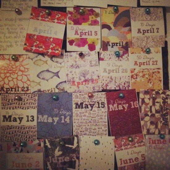 Engagement Advent Calendar. Brilliant.