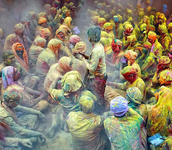 1 -The festival of Holi is a religious festival. People sing bhajans of Radha and Lord Krishna on this day and it marks the beginning of Spring Season in India. It is said that Holi existed several centuries before Christ.
