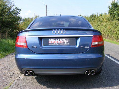 Milltek Exhaust - Audi A6 C6 3.0 TDI Quattro 2004-2005 (Cat-back) 3 Piece Rear boot lip spoiler