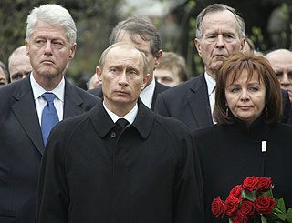 World leaders gather to pay last respects to Yeltsin