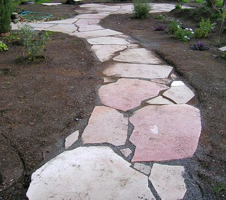 Flagstone path wouldn t it look adorable leading up to the front27 best Flagstone Walkway images on Pinterest   Driveways  Stone  . Flagstone Sidewalk Pictures. Home Design Ideas