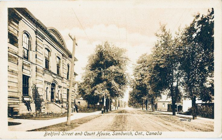 Circa 1930's - Municipal Court House in Old Sandwich Town located on Sandwich Street (formerly Bedford St) near Brock Street.