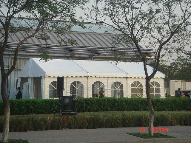 The range of large tents from Shelter is available in width spans from 8m to 50m the modular nature of Shelter's large tent systems allow designs of any length that are accomplished by adding 5m long prolongation bays to the tent.