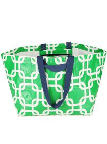 Tote Bag - Oversize green chain link