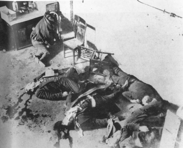 A rather bloody result of a prohibition-era conflict between two gangs in the Lincoln Park area of Chicago, seven men were killed on Valentine's Day in 1929 by Al Capone's mob. The resulting public outrage was so great that the tragic incident marked the beginning of Capone's dwindling influence in the windy city.