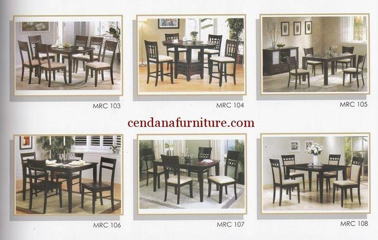 Katalog Set Meja Makan Minimalis MRC berisi gambar dan kode produk berdesain minimalis yang memudahkan anda memilih furniture yang diinginkan.