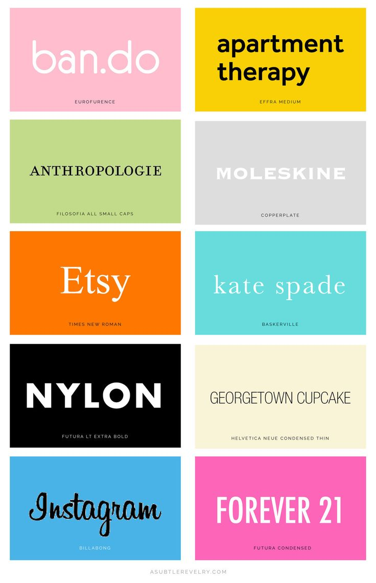 Our Favorite Brand Fonts http://asubtlerevelry.com/our-favorite-brand-fonts