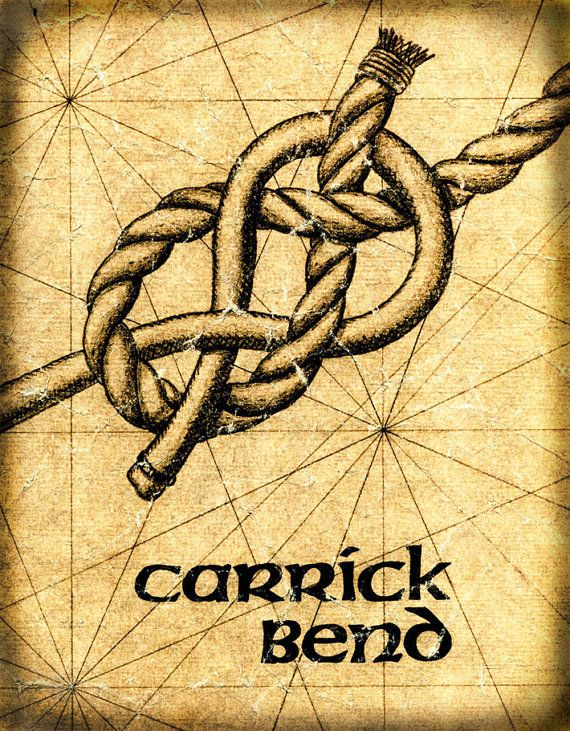 Carrick Bend Knot Art Sailing Knots Nautical by GeographicsArt