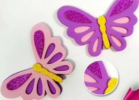 M s de 25 ideas incre bles sobre mariposas goma eva en - Mariposas goma eva ...