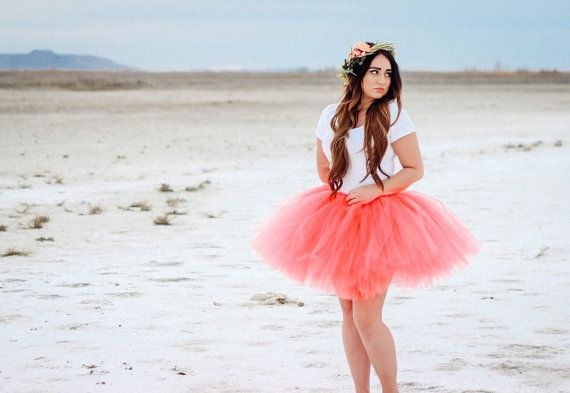 Coral Adult Tutu Skirt by PiaMiaBoutique