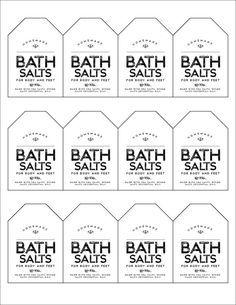 FREE DOWNLOAD FRIDAY, WEEK 3 – Lavender/Mint Scented Bath Salts Labels
