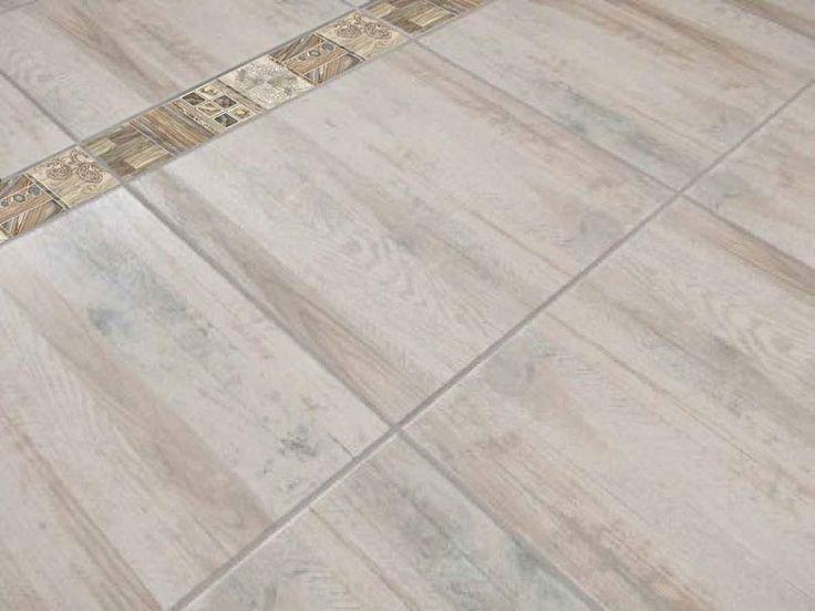 Patchy Floor Border Ctm Wood Look Tile Flooring Ceramics