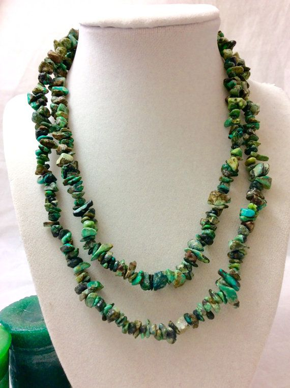 Really Beautiful Vintage Raw Turquoise by vintagejewelrycloset