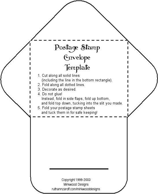 76 best Craft Envelopes and Pocket Designs images on Pinterest - sample 5x7 envelope template