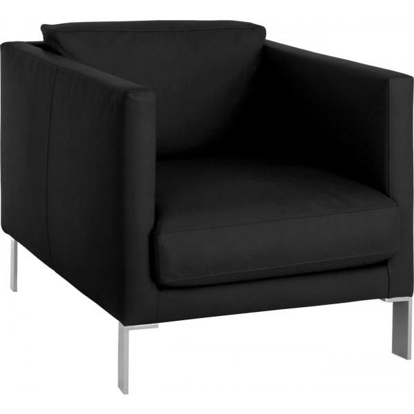 Fauteuil Simili Cuir Aragon Noir Fauteuil Design Annee 70
