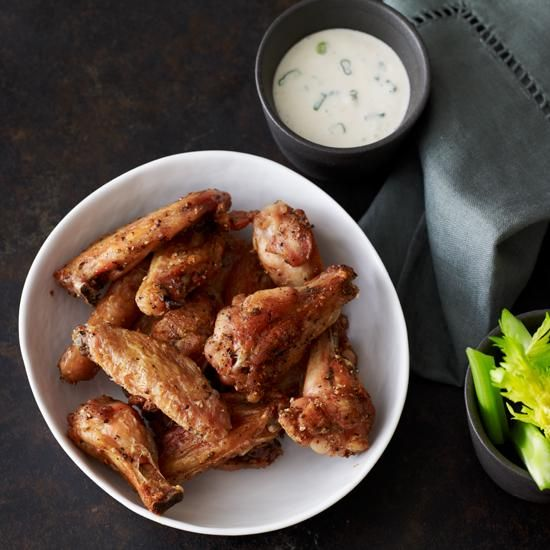 Pepper and Salt Chicken Wings | Salt and pepper chicken wings have a crisp, spicy coating, and the recipe combines black and white pepper for an even more powerful flavor.
