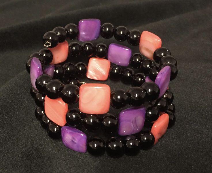 Memory wire bracelet Made by Arja Hannele