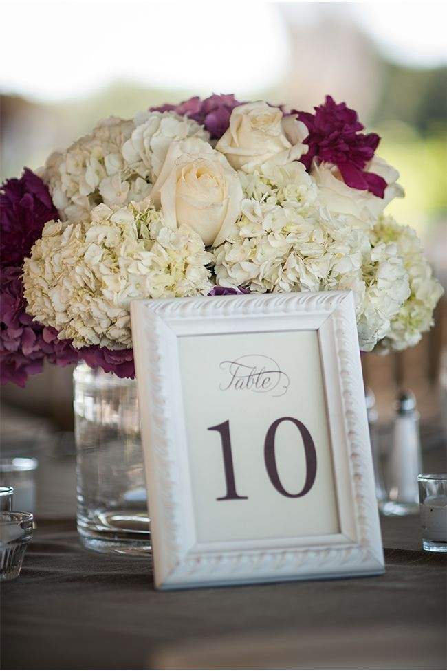 Ivory and Eggplant Florals / Stout Photography / via StyleUnveiled.com