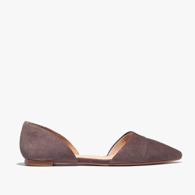 With their sleek pointed toes and cutout d'Orsay shape, these are flats  gone sexy. Bonus: Comfy padded insoles make these suede shoes dance  floor-friendly.
