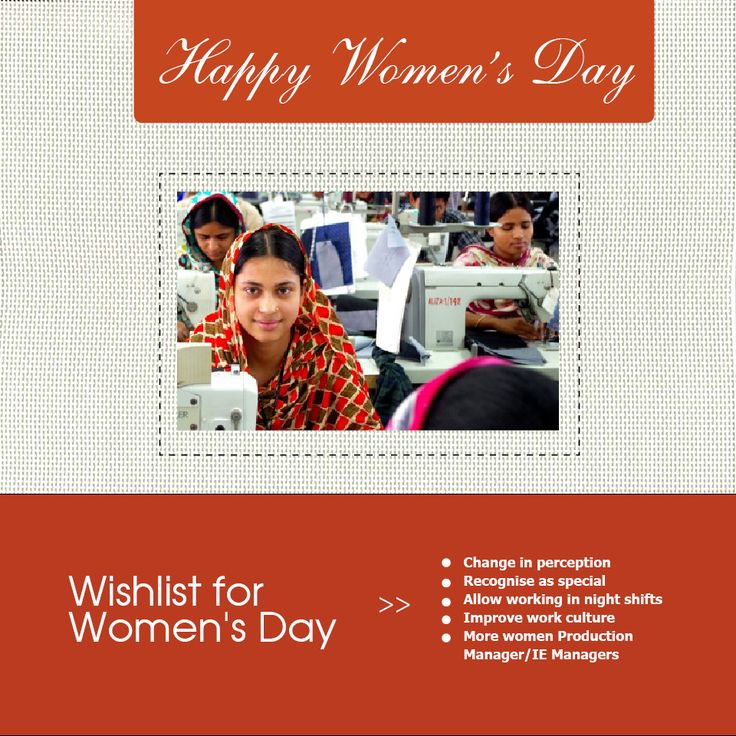 Industry's wish-list for women in Indian apparel industry. #IWD2016 #InternationalWomensDay